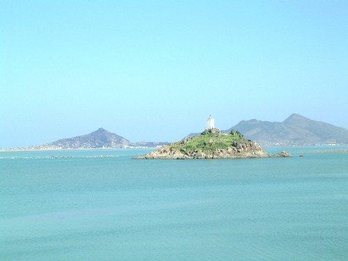 """连云港海边一景""""鸽岛"""""""