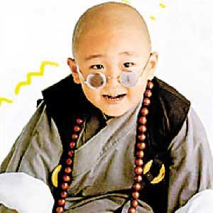 小时候的郝邵文在《少林小子之新乌龙院》的演出人见人爱