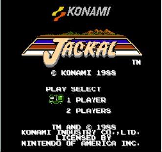 赤色要塞,英文名jackal.是一款fc上的经典作战游戏.