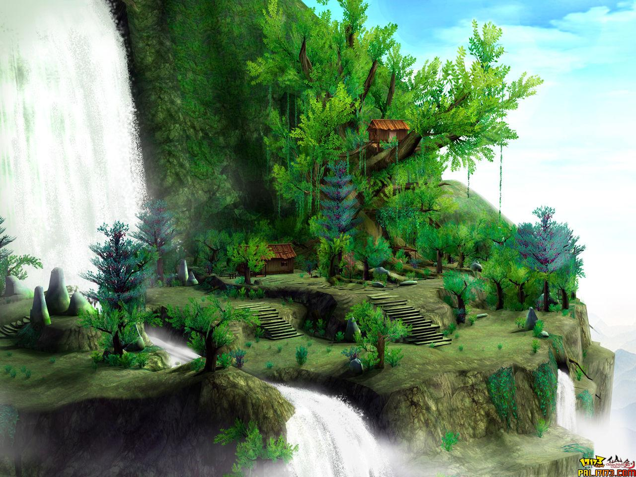 性的图片做一下对比.仙剑奇侠传四  仙剑ol高级地图截图蜀山