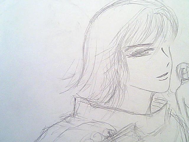 俺二年前画的黑精男,人法弟弟,铅笔草图卧槽,标题不长