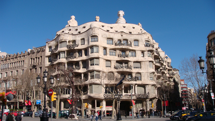 法国的街景,西班牙海滩.