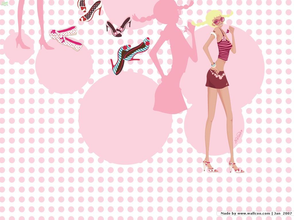【女孩最爱】超可爱粉色系桌面壁纸 可爱韩系6月日历桌面