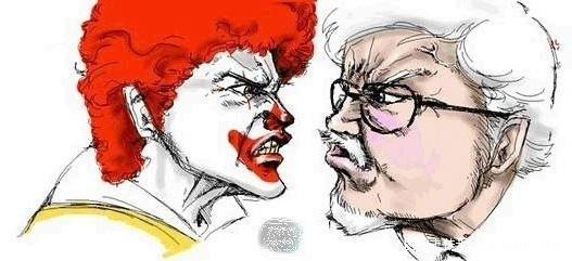麦当劳叔叔与肯德基爷爷纠结的一生