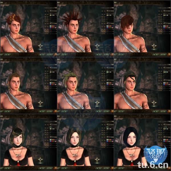 --全部角色发型图