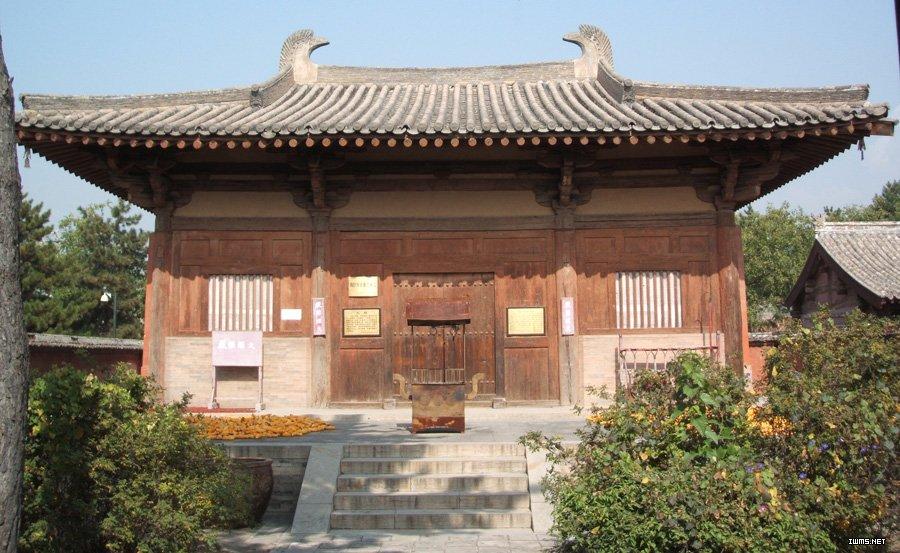 中国现存的最早的木结构 也就这个 中国馆的构想肯定借鉴了它