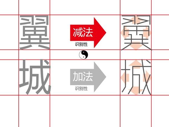 在调整结构的同时 加入个性 和让笔画占据框架的4向-中文字体设计技