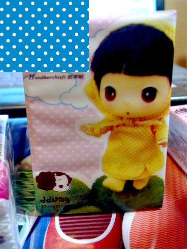 发现可爱的冬己娃娃餐巾纸[图]