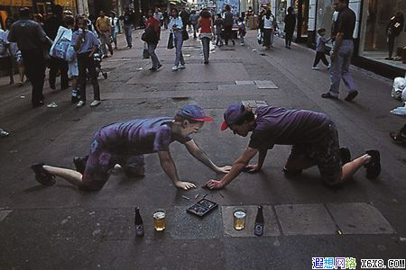 外国大师街头手绘挑战视觉