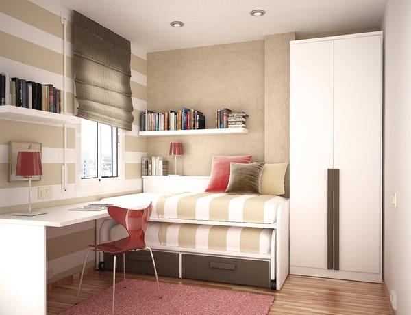 节省空间的卧室 书房设计图片