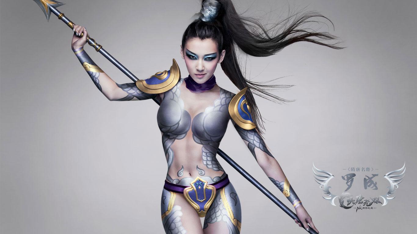 快来看看这个女版的罗成啊,完全是挑战我们的忍耐极限图片