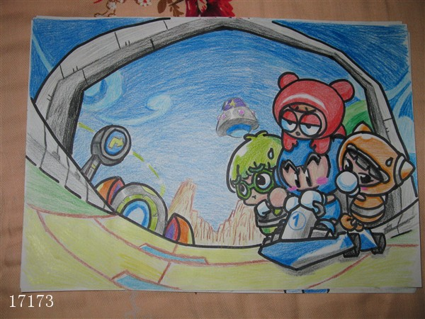 儿童彩铅教师范画