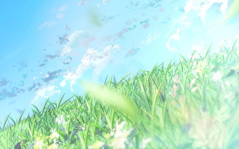 唯美动漫 背景图动漫名片背景图 一句话白色背景图