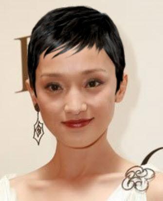 """假如女星们留同一款发型; 张柏芝赵薇范冰冰小s张雨绮 挑战""""杯具""""短发图片"""