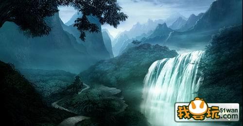 壁纸 风景 旅游 瀑布 山水 桌面 500_261