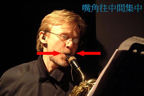 高音萨克斯吹奏的口型