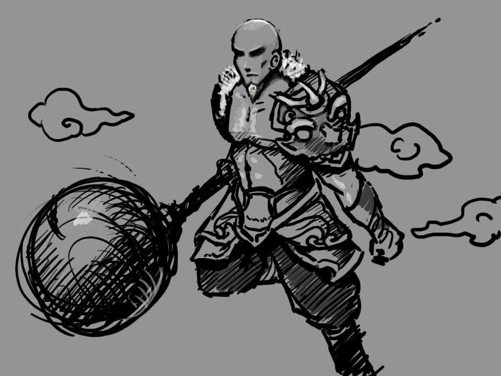 《梦三国》最新英雄文丑 玩家原创画