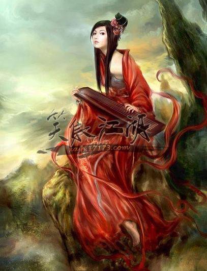 东方手绘玄幻女子图片