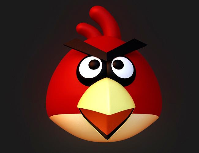 红色小鸟卡通图