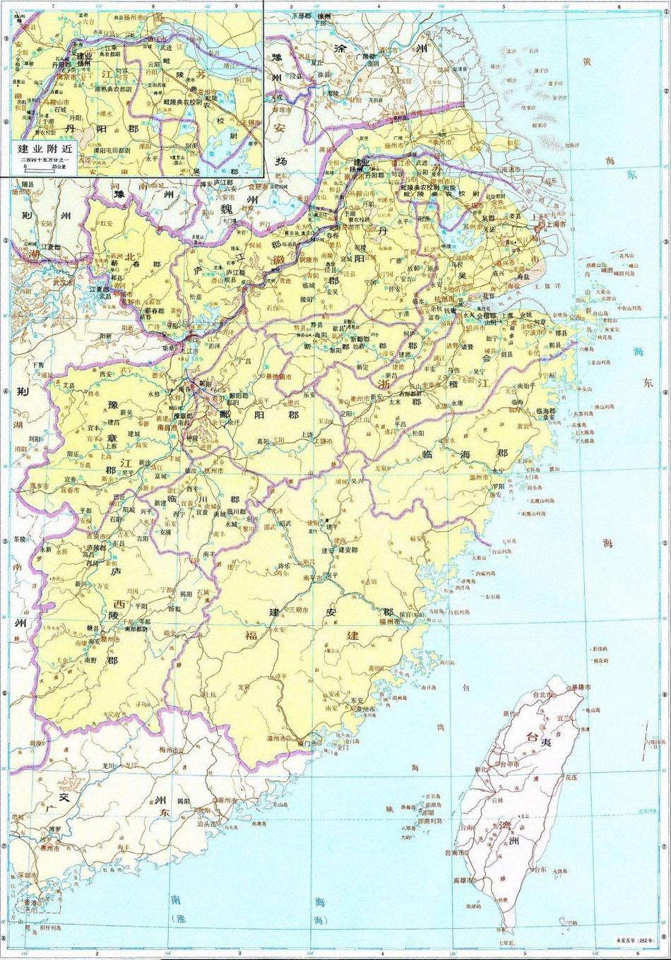 三国各类地图贴(地图)