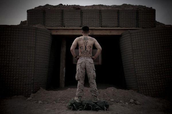 一名美国大兵的纹身