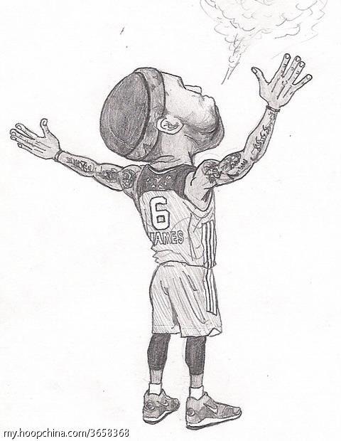 手绘卡通詹姆斯