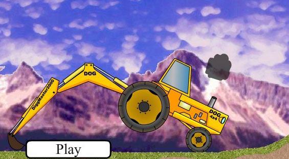 另类驾驶小游戏 模拟挖掘机