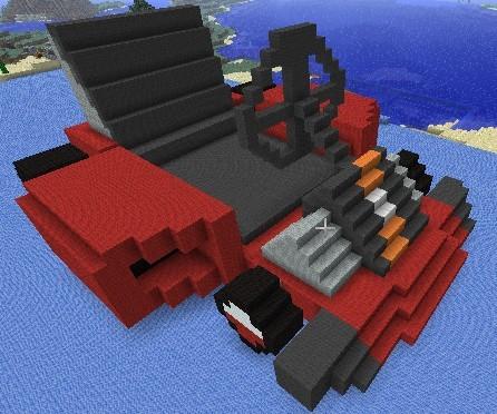 在《我的世界(minecraft)》里做的板车pro