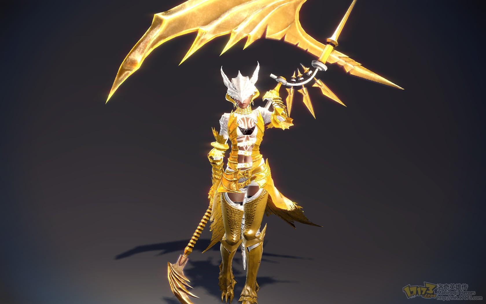 金甲之神伊菲金黄色捍卫者套装展示