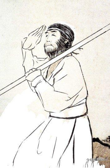 杜甫可爱简笔画