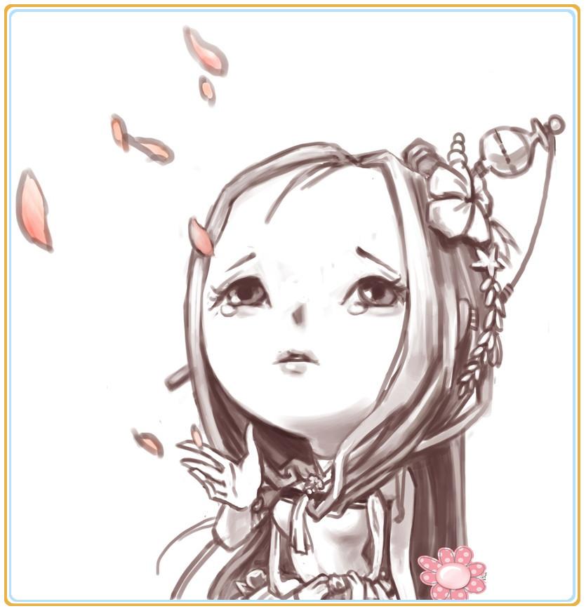 《剑灵》近期韩服玩家手绘素描作品