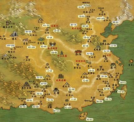 天龙八部1 10级挖矿各地图具体是什么矿