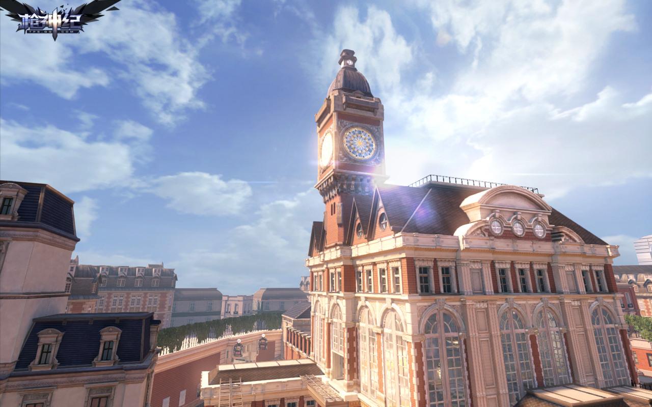 """""""维也纳钟楼""""是一个以欧式古典钟楼为中心的中大型地图."""