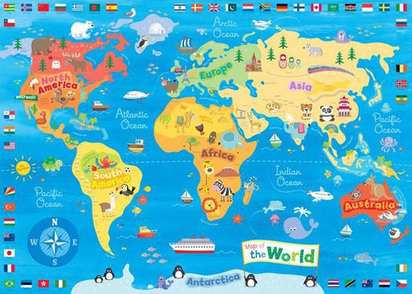 地图卡通版手绘