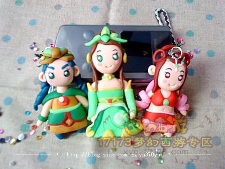 [转载]软陶作品—可爱迷你的梦幻西游,大话西游3小妞~; 手工达人 软陶