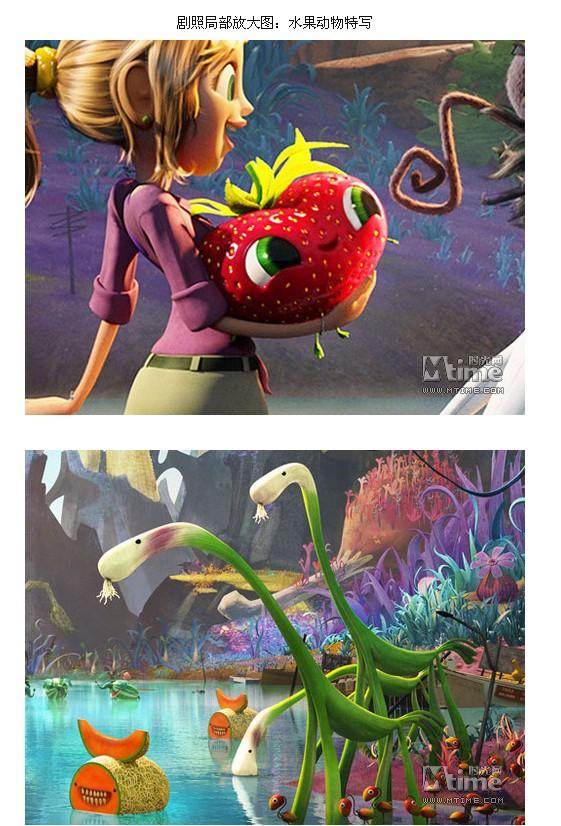 由于动画电影《天降美食》的成功,索尼将在今年秋季档力推其续集《天降美食2:剩饭的复仇》。该片今日曝光首张剧照,水果动物园里橙子、蜜瓜、草莓、香蕉、西瓜等纷纷化身为动物,一片奇趣缤纷。本片的首支预告片也将于近日发布。   续集将承接第一部的结尾,世界陷入食物过剩的灾难而开始。科学家弗林特洛克伍德和他的朋友们被迫离开自己的家乡,但当他们来到一个小岛,却发现那里被水果化身而成的动物们统治着,弗林特又面临着新的挑战。   《天降美食2》由克里斯皮恩和曾为《怪物史莱克》系列撰写剧本的科迪卡梅伦执导,尼尔帕特里